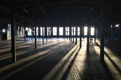 Industrial location | Factory in New-york with Daylight / total white,  Blackout / total black and Backgrounds