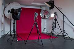 Studio Fotografico zona San Babila in Milan with Studio assistant / crew,  Backgrounds and Softboxes