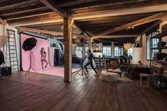 Photostudio loft close to Antwerp city in Antwerp with Stereo system ,  Projector  and Furniture