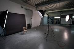 300 m2 studio for rent, available also for food photography in Bratislava with Backgrounds,  Infinity wall and Softboxes