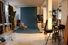 Photo Studio Location in Milan with Softboxes ,  Poly boards and Light stands