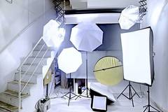 Studio Fotografico Photo Art & Techs in Rome with Backgrounds,  Softboxes  and Reflectors